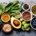 Low FODMAP diet food spread
