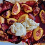 Baked stone fruit