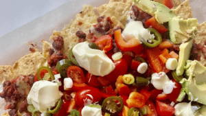 Veggie nachos
